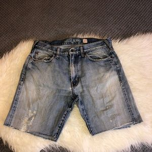 GUESS By Marciano Jean Denim Medium Wash Shorts